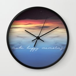 Make Happy Memories Wall Clock
