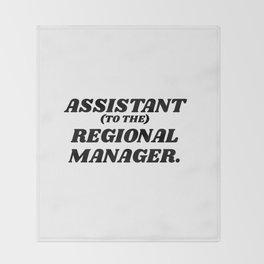 assistant to the regional manager Throw Blanket