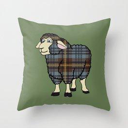 Faded Johnston Tartan Sheep Throw Pillow