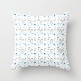 Warm Arctic Animals Throw Pillow