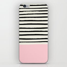 Millennial Pink x Stripes iPhone Skin