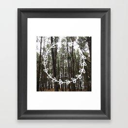 do think be positive Framed Art Print