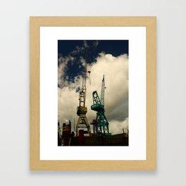 Harbor Crane Framed Art Print