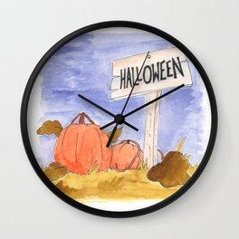 Halloween Pumpkin Patch Wall Clock