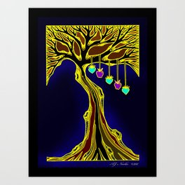 "Family Tree ""Warm Colors"" Art Print"