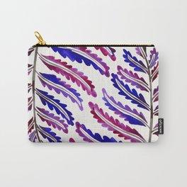 Fern Leaf – Indigo Palette Carry-All Pouch