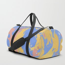 Yellow & blue paint Duffle Bag
