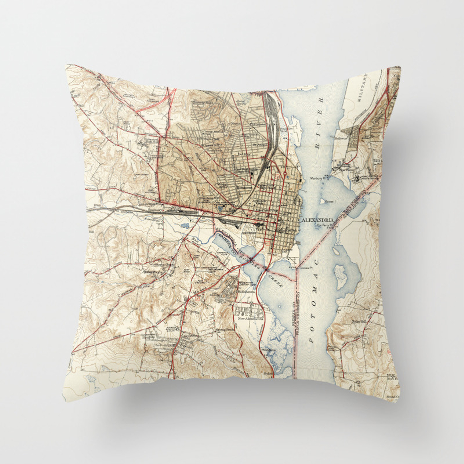 Maryland Old Map Throw Pillow By Drawspots Society6