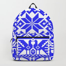 Cross-stitch - Blue Backpack