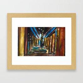 Under The Broadway Bridge Framed Art Print