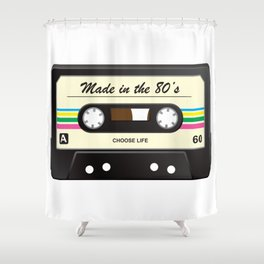 Made in the 80's Shower Curtain