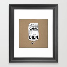 Coffee Diem Framed Art Print