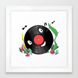 Vinyl Guy Framed Art Print