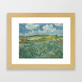 Plain at Auvers with rain clouds Framed Art Print