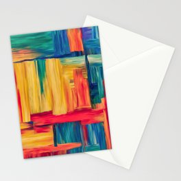 Abstract colorful mosaic Stationery Cards