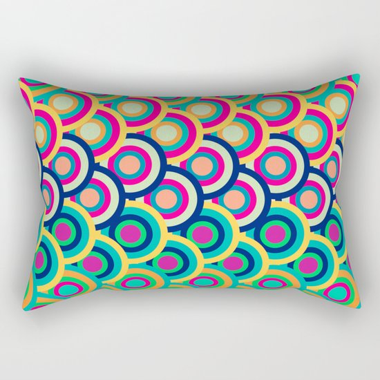 Circle colors Rectangular Pillow