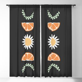 Floral Fruit Moon Phases Blackout Curtain