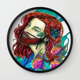 The little Merman - Little Mermaid fanart Wall Clock