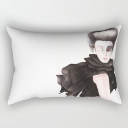 Black Chiffon Rectangular Pillow