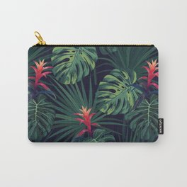 Tropical pattern with Guzmania flowers Carry-All Pouch