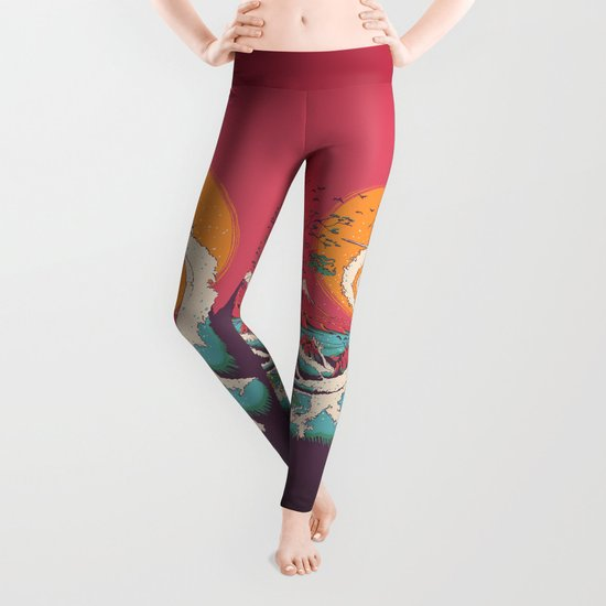 Surf Before Christmas Leggings