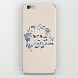 Floral Rap #1 iPhone Skin