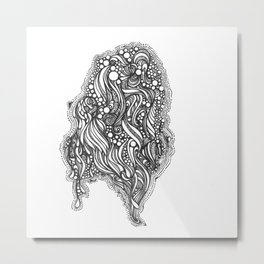 Bubbling Metal Print