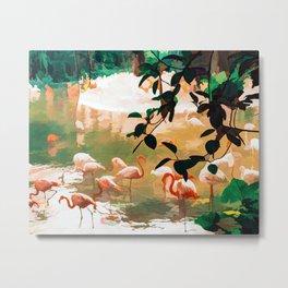 Flamingo Sighting #painting #wildlife Metal Print