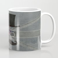 brompton Mugs featuring Bicycle Head by Wyatt Design