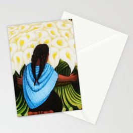 Flower Seller 1942 by Diego Rivera Stationery Cards