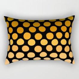 Honey Gold and Amber Ombre Dots Rectangular Pillow