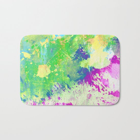 Love Colour (Abstract, colourful painting) Bath Mat