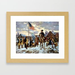Washington At Valley Forge Framed Art Print