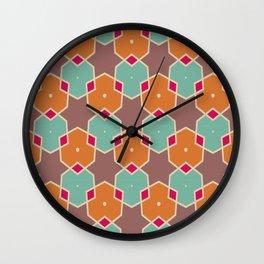 Stars and honeycombs pattern Wall Clock