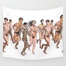 Naked Runners Wall Tapestry