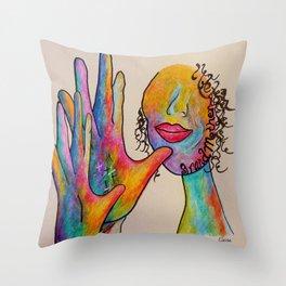 American Sign Language Grandmother Throw Pillow