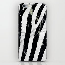 marble zebra iPhone Skin
