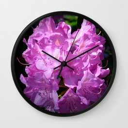 Pink Rhododendron by Teresa Thompson Wall Clock