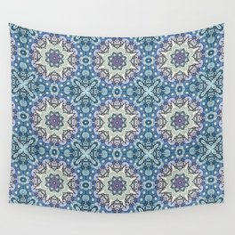 winter mandala pattern Wall Tapestry