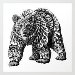 Ornate Bear Art Print