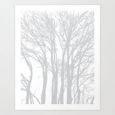 Grey Trees Art Print