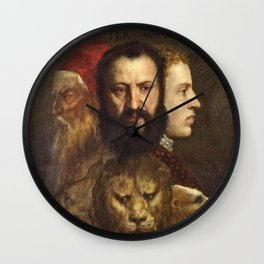 Titian - An Allegory Of Prudence Wall Clock