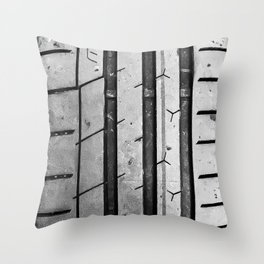 Extreme Contact Tire Tread Throw Pillow