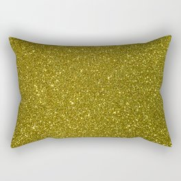 Classic Bright Sparkly Gold Glitter Rectangular Pillow