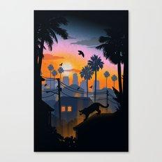 Suburban Jungle Canvas Print