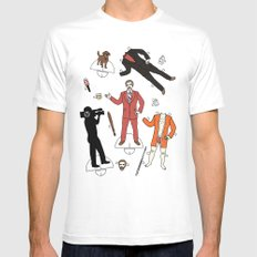 Cut It Out: Ron Burgundy MEDIUM Mens Fitted Tee White
