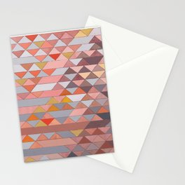 Triangle Pattern no.5 Gold, Pink and Brown Stationery Cards