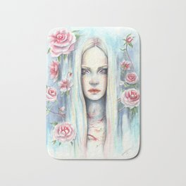 """Blossom"" Watercolour Surreal Fantasy Nymph Bath Mat"