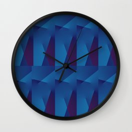 Abstract Geometric QQ Wall Clock