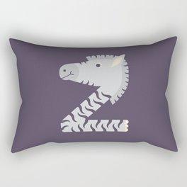 Letter Z // Animal Alphabet // Zebra Monogram Rectangular Pillow